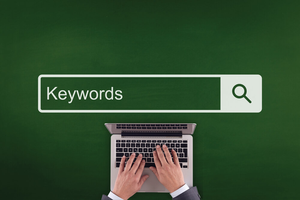 how to find keywords on a website