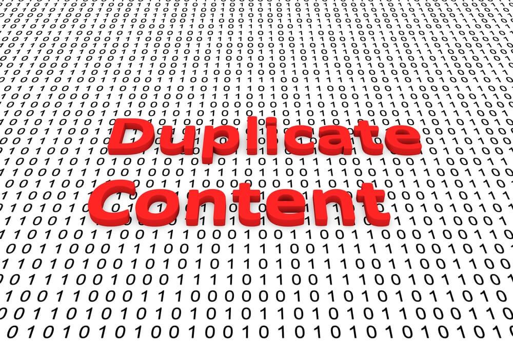 google seo duplicate content